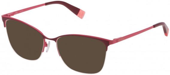 Furla VFU184 sunglasses in Full Bordeaux/Coloured