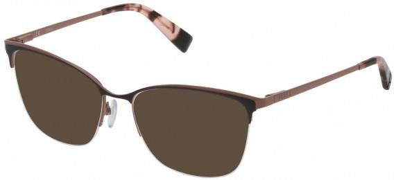 Furla VFU184 sunglasses in Shiny Black/Coloured