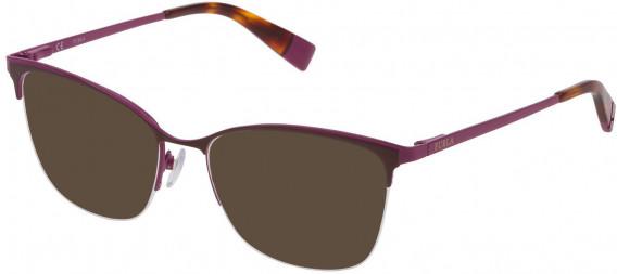 Furla VFU184 sunglasses in Full Brown/Coloured
