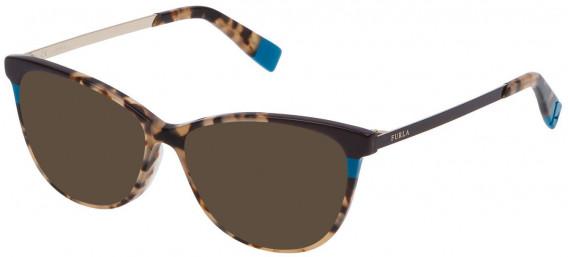 Furla VFU133 sunglasses in Shiny Brown/Beige Havana
