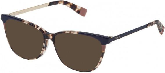 Furla VFU133 sunglasses in Shiny Light Havana