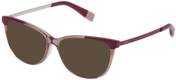 Furla VFU133 sunglasses in Shiny Transparent Mauve