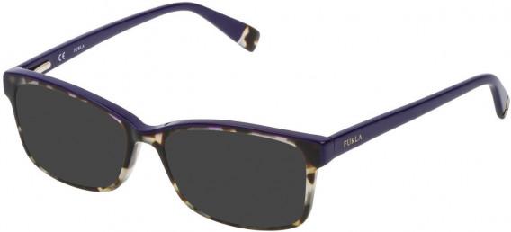 Furla VFU094N sunglasses in Shiny Havana Feather Beige
