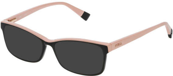 Furla VFU094N sunglasses in Shiny Black/Rose