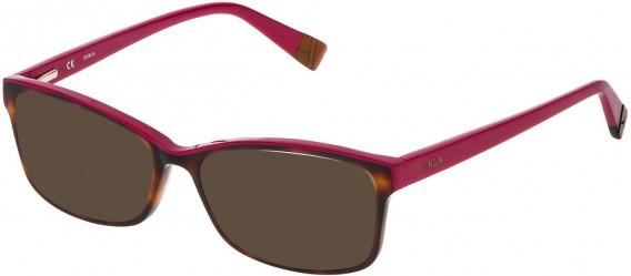 Furla VFU094N sunglasses in Shiny Havana/Red