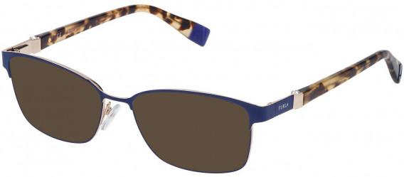 Furla VFU092S sunglasses in Shiny Full Blue/Rose Gold