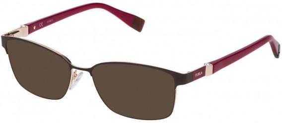 Furla VFU092S sunglasses in Shiny Full Brown/Rose Gold