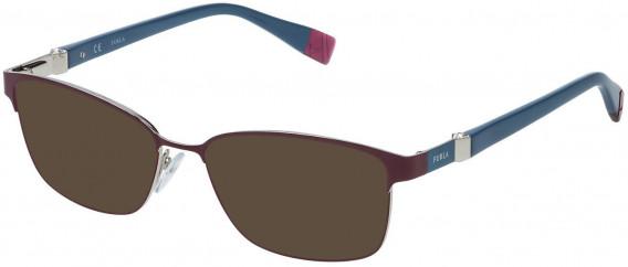 Furla VFU092S sunglasses in Shiny Bordeaux/Palladium