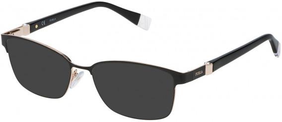 Furla VFU092S sunglasses in Shiny Black/Shiny Rose Gold
