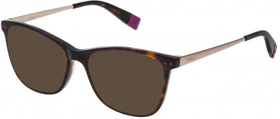 Furla VFU084 sunglasses in Shiny Dark Havana