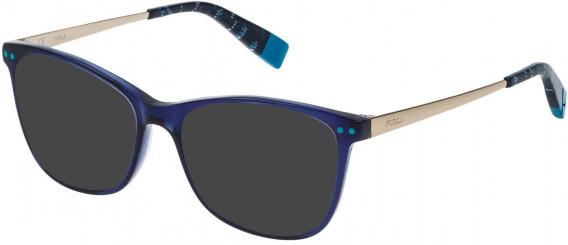 Furla VFU084 sunglasses in Transparent Blue