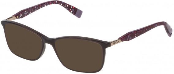Furla VFU028 sunglasses in Shiny Opal Brown