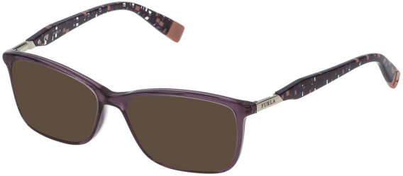 Furla VFU028 sunglasses in Shiny Transparent Violet