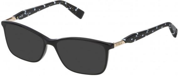 Furla VFU028 sunglasses in Shiny Black