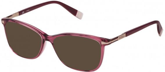 Furla VFU026 sunglasses in Shiny Transparent Antique Pink