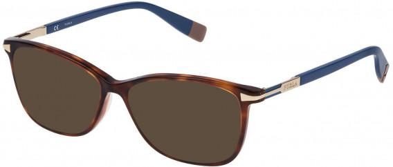Furla VFU026 sunglasses in Shiny Medium Havana