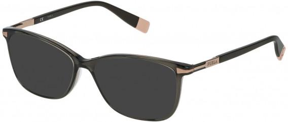 Furla VFU026 sunglasses in Shiny Transparent Grey