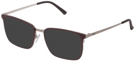 Fila VF9972 sunglasses in Shiny Satin Palladium