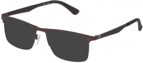 Fila VF9970 sunglasses in Matt Bordeaux