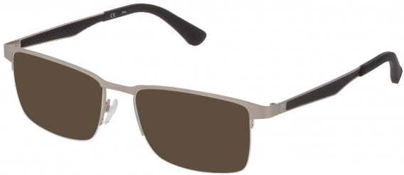 Fila VF9969 sunglasses in Matt Satin Palladium