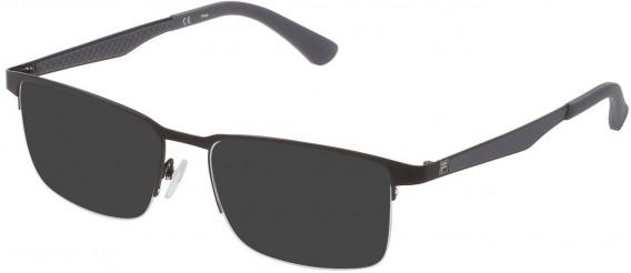 Fila VF9969 sunglasses in Semi Matt Black