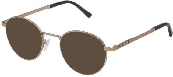 Fila VF9942 sunglasses in Semi Matt Grey Gold/Shiny