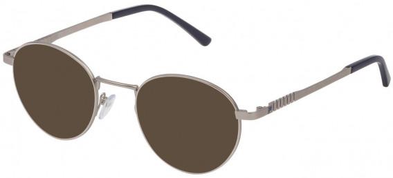 Fila VF9942 sunglasses in Matt Palladium/Shiny Palladium