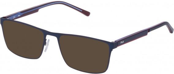 Fila VF9940 sunglasses in Matt Blue