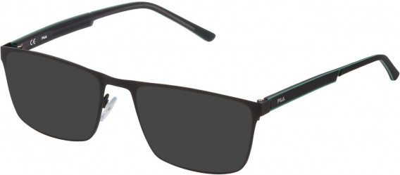 Fila VF9940 sunglasses in Semi Matt Black