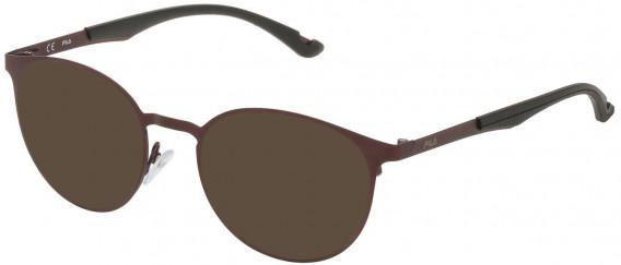 Fila VF9919 sunglasses in Matt Bordeaux