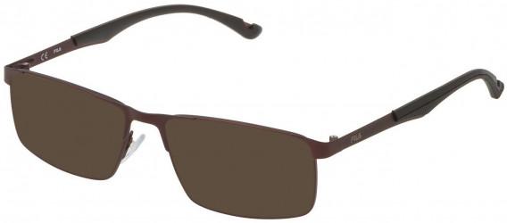 Fila VF9918 sunglasses in Matt Bordeaux