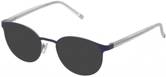Fila VF9838 sunglasses in Semi Matt Grey/Blue