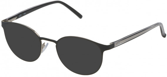 Fila VF9838 sunglasses in Palladium/Shiny Black