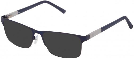 Fila VF9836 sunglasses in Matt Blue