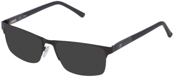 Fila VF9836 sunglasses in Semi Matt Black