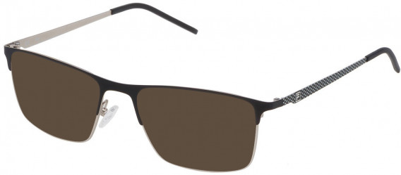 Fila VF9808 sunglasses in Semi Matt Palladium/Matt Black