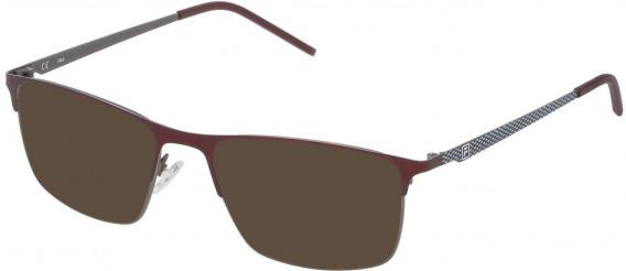 Fila VF9808 sunglasses in Matt Gun Metal/Shiny