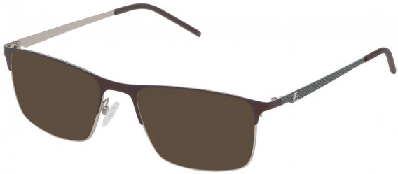 Fila VF9808 sunglasses in Matt Palladium/Brown