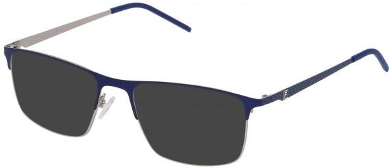 Fila VF9808 sunglasses in Matt Palladium/Blue