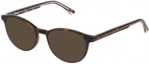 Fila VF9322 sunglasses in Shiny Dark Havana