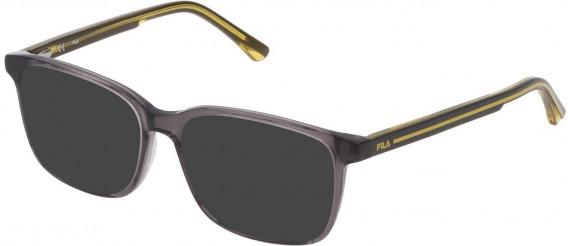 Fila VF9321 sunglasses in Shiny Transparent Grey