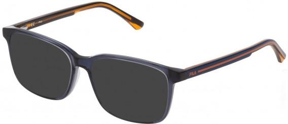 Fila VF9321 sunglasses in Shiny Transparent Blue
