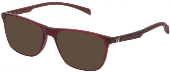 Fila VF9279 sunglasses in Shiny Transparent Red