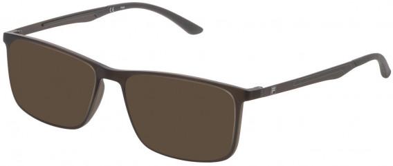 Fila VF9278 sunglasses in Shiny Transparent Grey