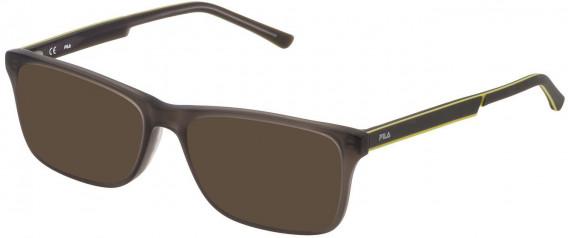 Fila VF9275 sunglasses in Matt Transparent Grey