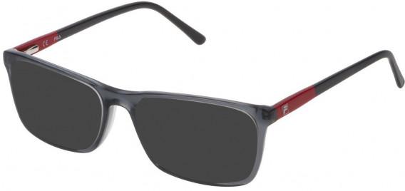 Fila VF9171 sunglasses in Shiny Transparent Grey
