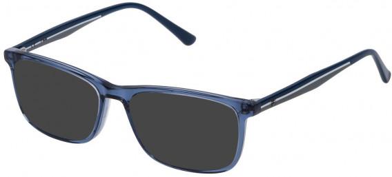 Fila VF9141 sunglasses in Transparent Blue