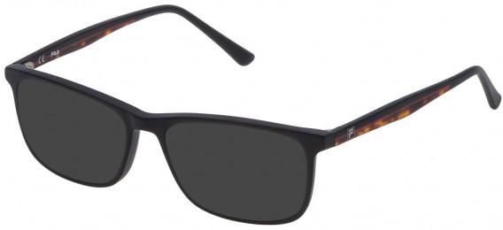 Fila VF9141 sunglasses in Matt/Sandblasted Black