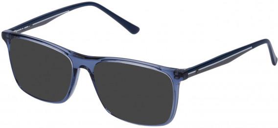 Fila VF9140 sunglasses in Transparent Blue