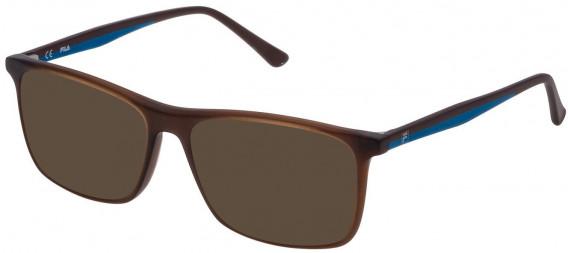 Fila VF9140 sunglasses in Transparent Brown
